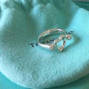 Tiffany & Co. Diamond open heart ring size 5